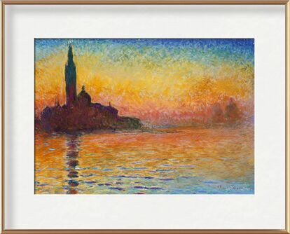San Giorgio Maggiore at Dusk - CLAUDE MONET from Aux Beaux-Arts, Prodi Art, Art photography, Framed artwork, Prodi Art