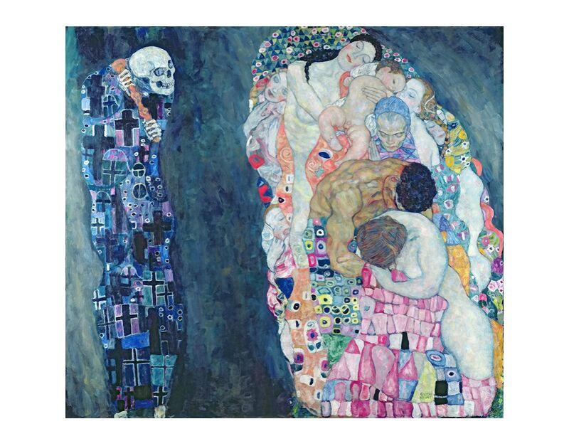 La mort et la vie, vers 1911 - Gustav Klimt de AUX BEAUX-ARTS, Prodi Art, cercle de la vie, abstrait, peinture, mort, la vie, KLIMT