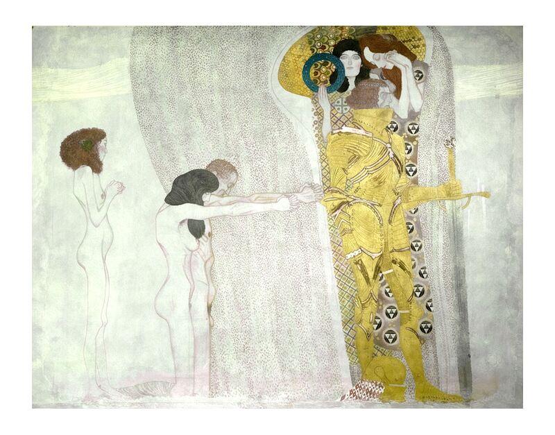 Frise de Beethoven inspirée de la 9e symphonie de Beethoven - Gustav Klimt de AUX BEAUX-ARTS, Prodi Art, KLIMT, musique, poésie, peinture, abstrait, Beethoven, 9 ème symphonie, musique classique