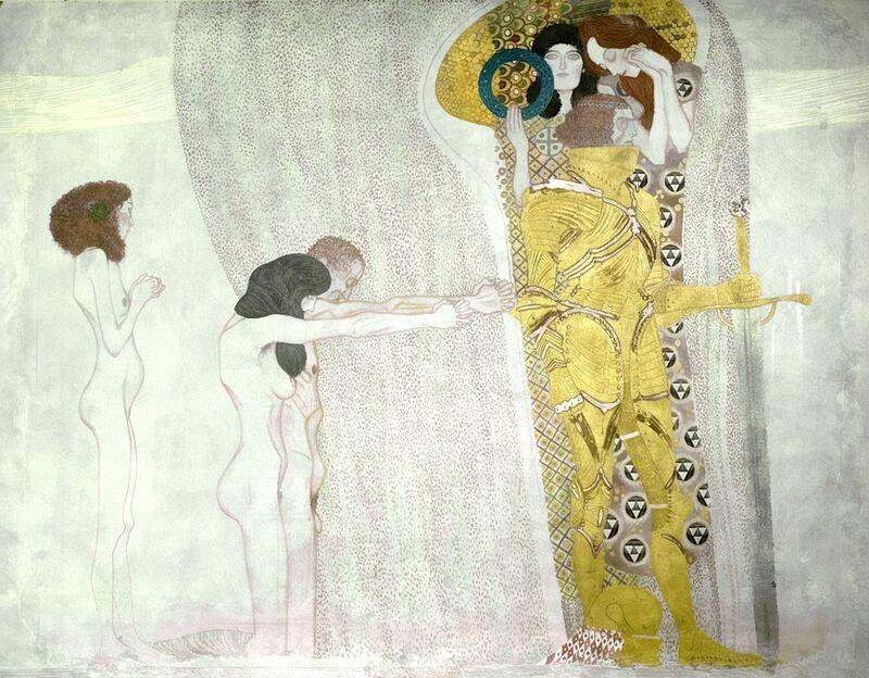 Frise de Beethoven inspirée de la 9e symphonie de Beethoven - Gustav Klimt de AUX BEAUX-ARTS Decor Image