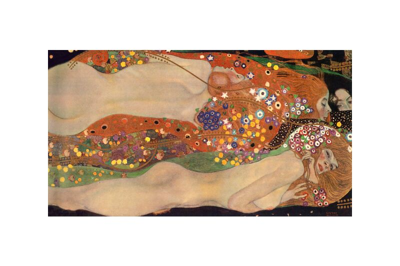 Water Serpents II - Gustav Klimt desde AUX BEAUX-ARTS, Prodi Art, KLIMT, pintura, mujer, serpiente, abstracto