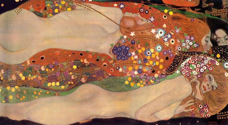 Water Serpents II - Gustav Klimt desde AUX BEAUX-ARTS Decor Image