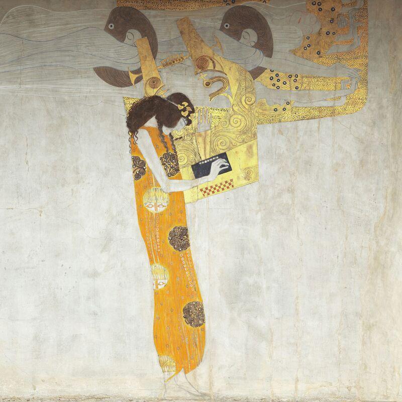 Beethovenfrieze, allégorie de la poésie - Gustav Klimt de AUX BEAUX-ARTS Decor Image