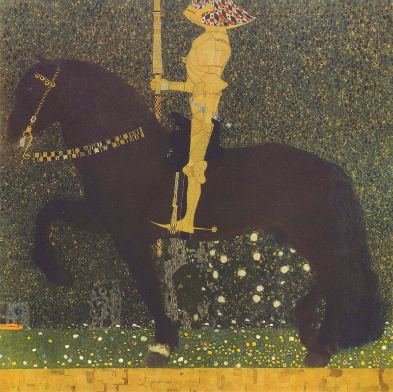 Life Is a Struggle (The Golden Knight) 1903 - Gustav Klimt from AUX BEAUX-ARTS Decor Image