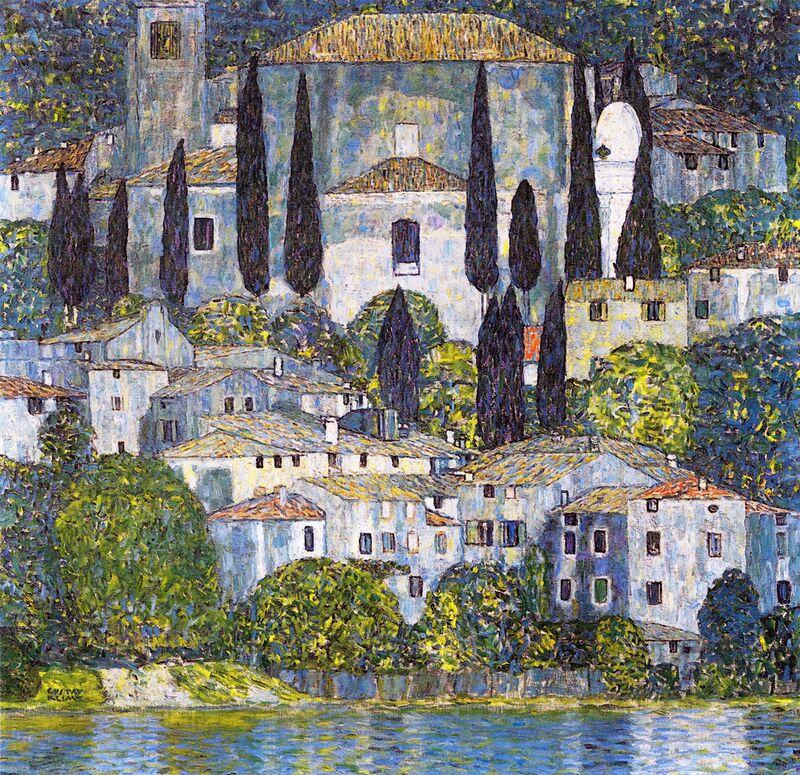 Église de Cassone sul Garda - Gustav Klimt de AUX BEAUX-ARTS Decor Image