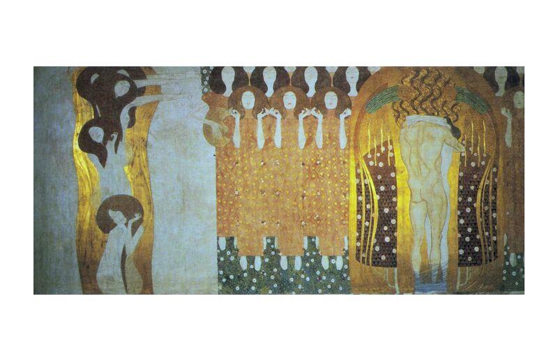 La Frise Beethoven - Gustav Klimt de AUX BEAUX-ARTS, Prodi Art, KLIMT, musique, frisé, Beethoven, abstrait, or, femme