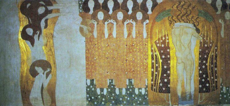 The Beethoven Frieze - Gustav Klimt from AUX BEAUX-ARTS Decor Image