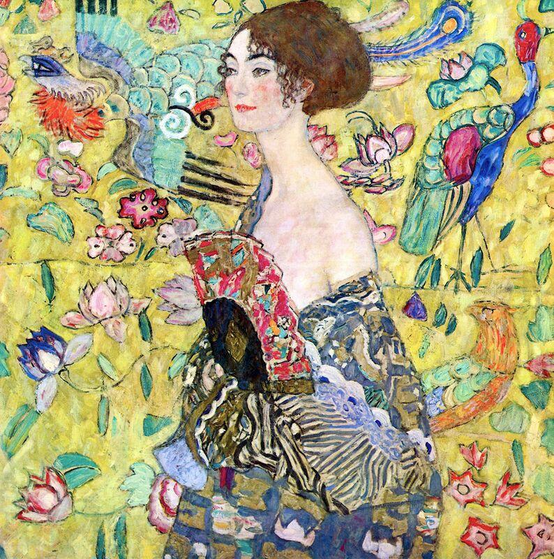 Lady with a Fan - Gustav Klimt from AUX BEAUX-ARTS Decor Image