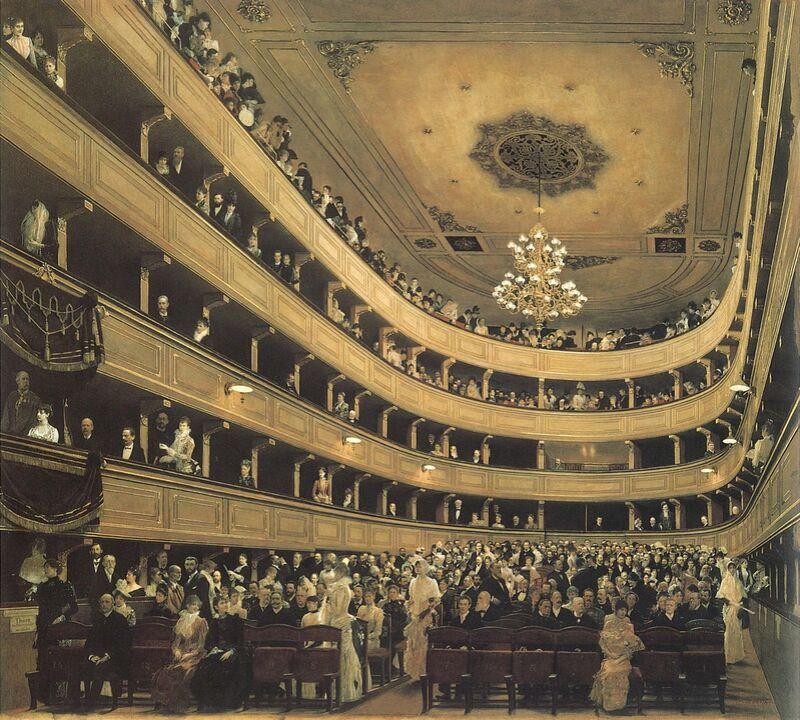 L'auditorium du Théâtre de l'Ancien Château, 1888 - Gustav Klimt de AUX BEAUX-ARTS Decor Image