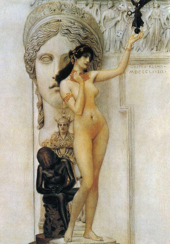 Allegory of Sculpture - Gustav Klimt from AUX BEAUX-ARTS Decor Image