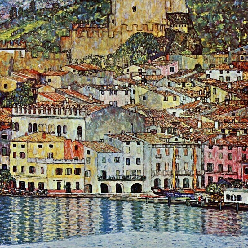 Malcena à la Gardasee, 1907 - Gustav Klimt de AUX BEAUX-ARTS Decor Image