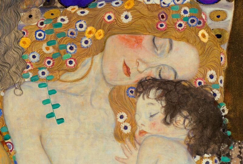 Mother and Child (detail from The Three Ages of Woman) - Gustav Klimt desde AUX BEAUX-ARTS Decor Image