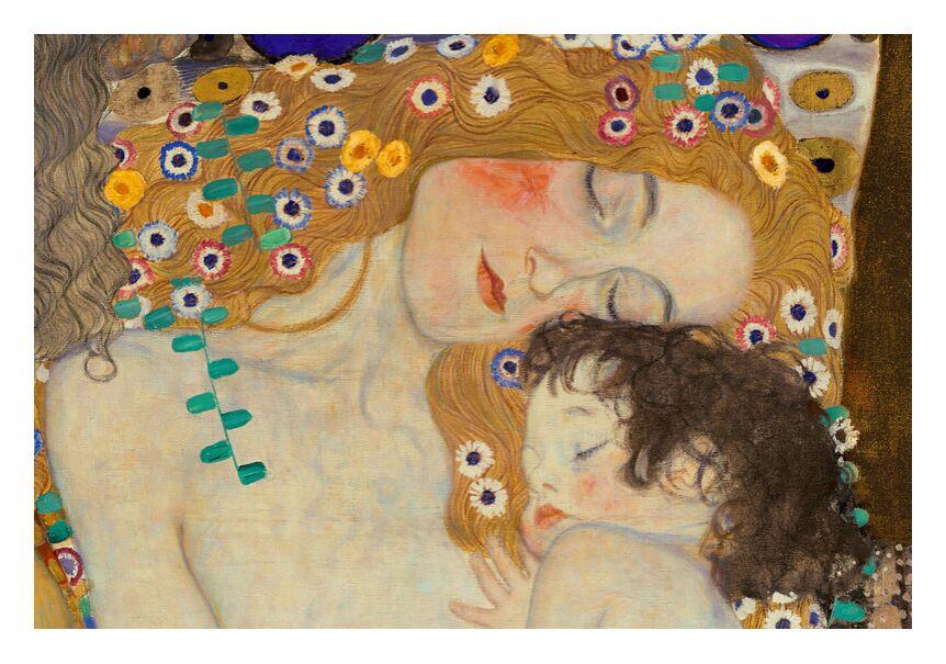 Mère et enfant (détail dans Les trois âges de la femme) - Gustav Klimt de AUX BEAUX-ARTS, Prodi Art, KLIMT, mère, enfant, peinture, fleurs