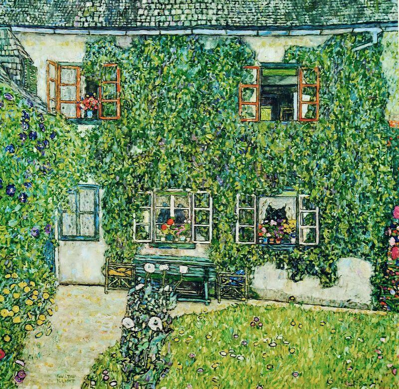 Maison forestière à Weissenbach sur l'Attersee-Lake - Gustav Klimt de AUX BEAUX-ARTS Decor Image