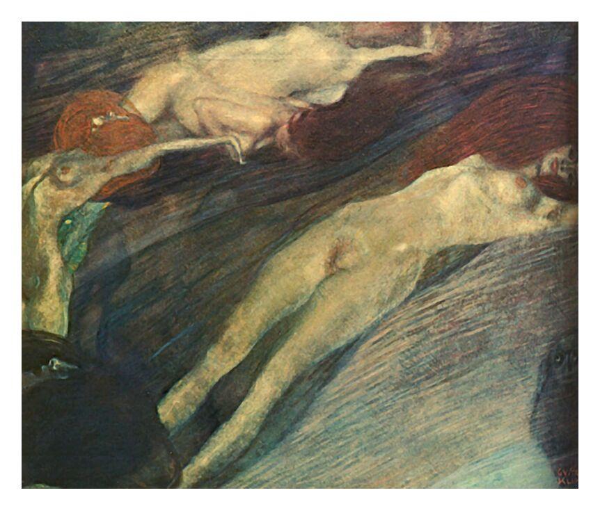 L'Eau en Mouvement - Gustav Klimt de AUX BEAUX-ARTS, Prodi Art, KLIMT, eau, femmes, nu