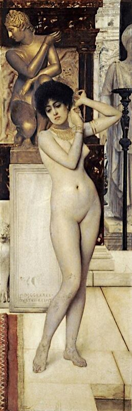 Study on Skigge and Eel for the Allegory of Sculpture, 1890 - Gustav Klimt from AUX BEAUX-ARTS Decor Image