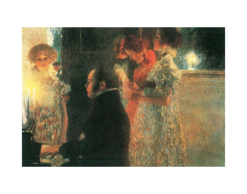 Schubert at the Piano - Gustav Klimt desde AUX BEAUX-ARTS, Prodi Art, KLIMT, música, mujer, pintura, plan