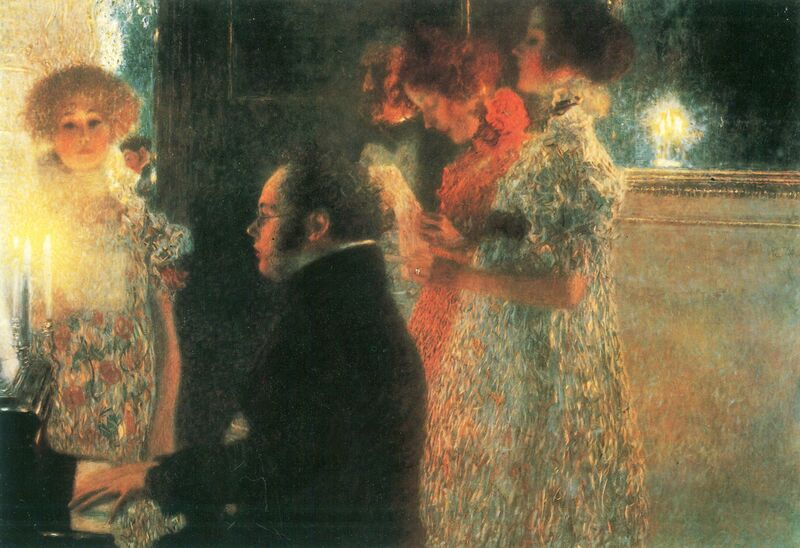 Schubert au Piano - Gustav Klimt de AUX BEAUX-ARTS Decor Image