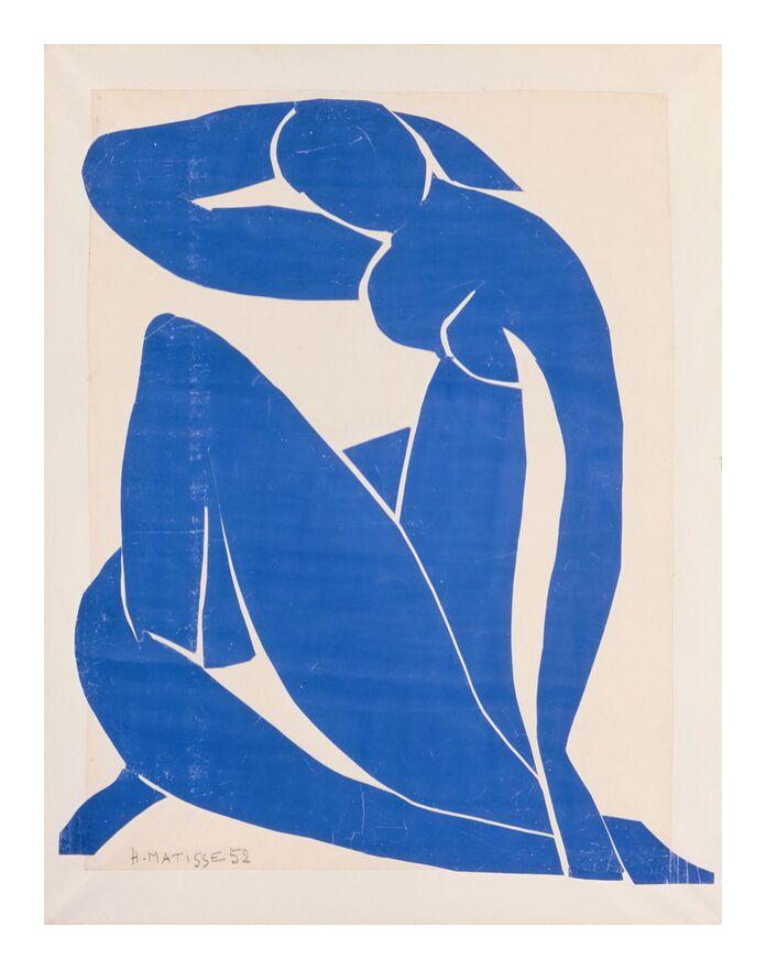 Nu Bleu II - Henri Matisse de AUX BEAUX-ARTS, Prodi Art, bleu, nu, dessin, peinture, Matisse