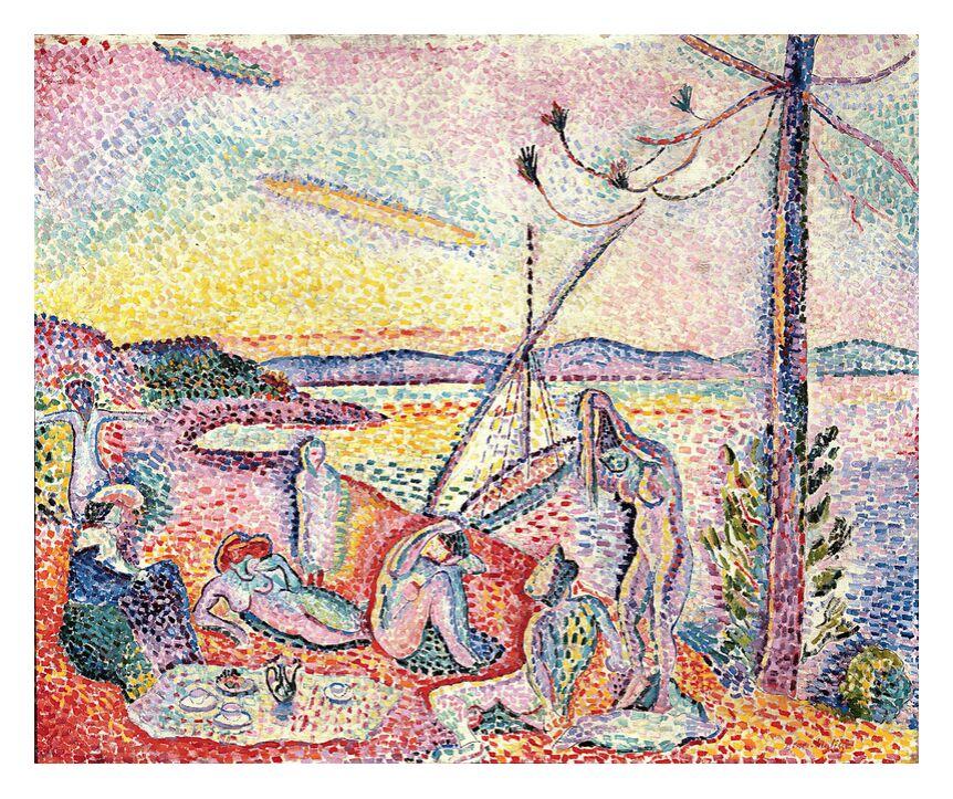 Luxe, Calme et Volupté, 1904 - Henri Matisse de AUX BEAUX-ARTS, Prodi Art, Matisse, plage, soleil, été, vacances, femme