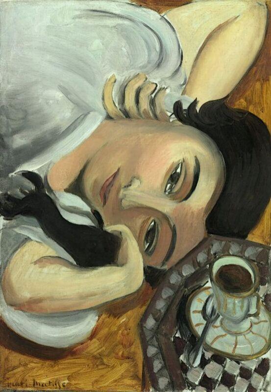 Lorette avec une Tasse de Café, 1917 - Henri Matisse de AUX BEAUX-ARTS Decor Image