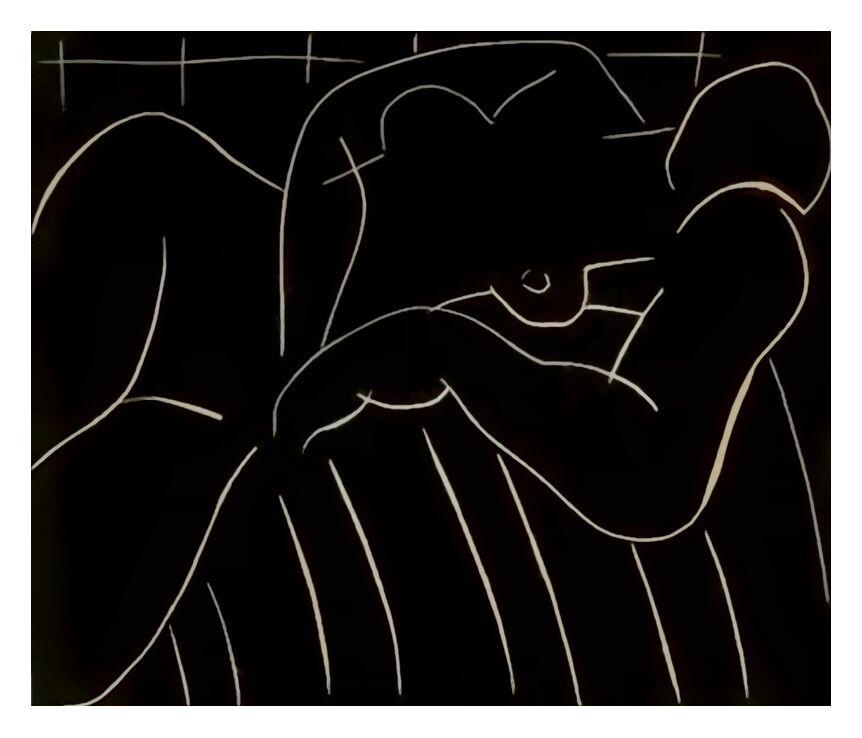 La Sieste, 1938 - Henri Matisse de AUX BEAUX-ARTS, Prodi Art, figuratif, sieste, crayon, dessin, Matisse
