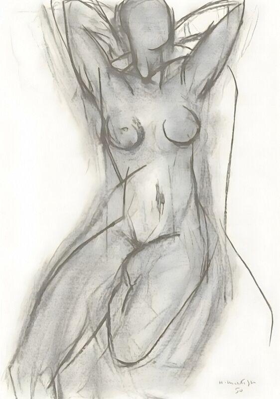 Nude in An Armchair, 1950 - Henri Matisse desde AUX BEAUX-ARTS Decor Image