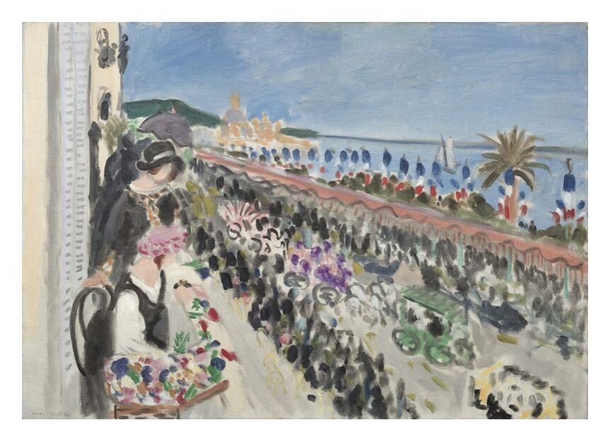 Fête des Fleurs, 1923 - Henri Matisse de AUX BEAUX-ARTS, Prodi Art, bateau, mer, été, plage, fête, fleurs, Matisse