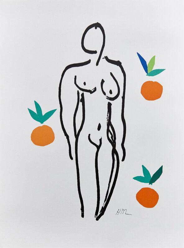Verve, Nude with Oranges - Henri Matisse desde AUX BEAUX-ARTS Decor Image