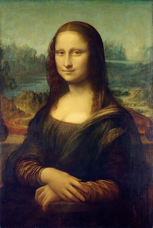 La Joconde -  Léonard de Vinci de AUX BEAUX-ARTS Decor Image