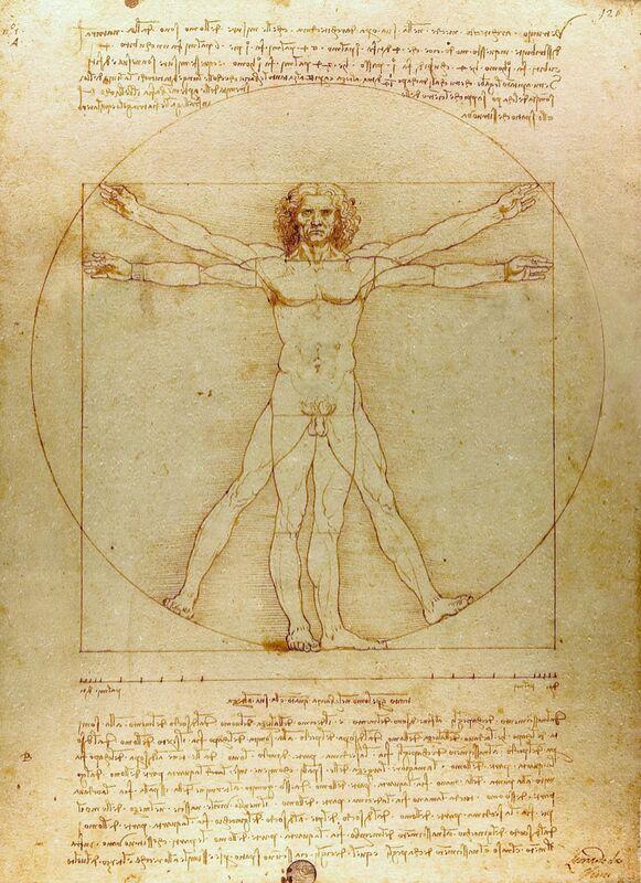Homme de Vitruve - Léonard de Vinci de AUX BEAUX-ARTS Decor Image