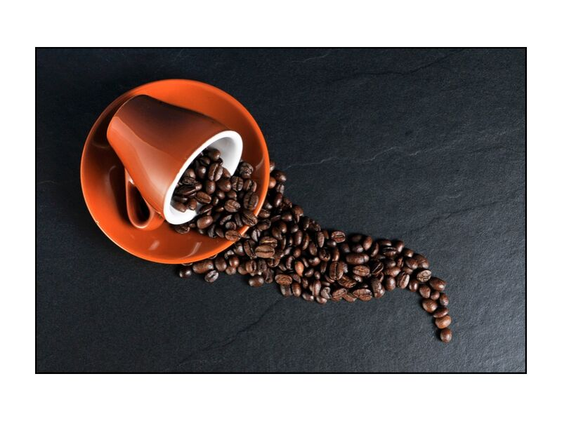 The cup and its grains from Pierre Gaultier, Prodi Art, beans, coffee cup, coffee beans, cup, coffee