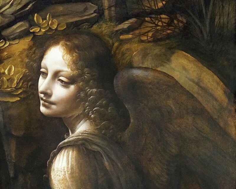 Details of The Angel, The Virgin of the Rocks - Leonardo da Vinci from AUX BEAUX-ARTS Decor Image