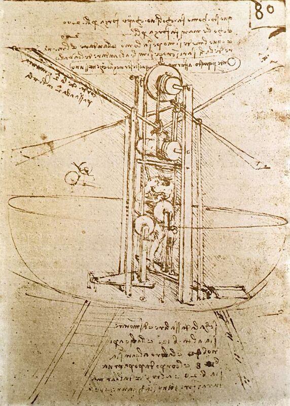 Machine Volante à Ailes d'Oiseaux en Position Verticale - Leonardo da Vinci de AUX BEAUX-ARTS Decor Image
