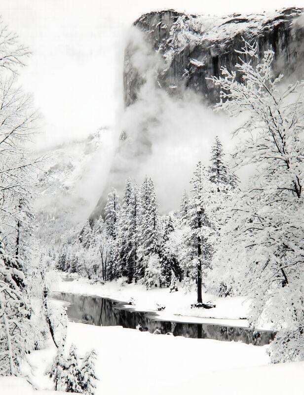 El Capitan, Série d'Hiver du Parc National de Yosemite, Californie - Ansel Adams de AUX BEAUX-ARTS Decor Image