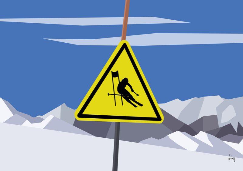 Slalom de Benoit Lelong Decor Image