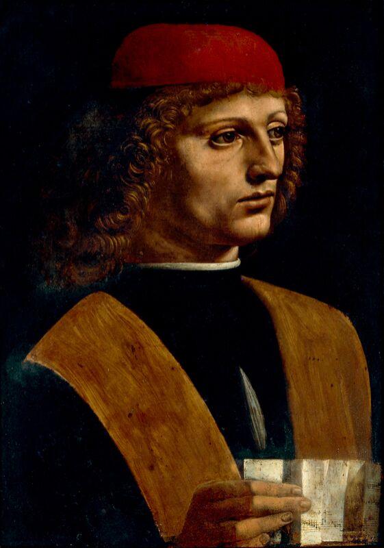 Portrait d'un musicien - Léonard de Vinci de AUX BEAUX-ARTS Decor Image