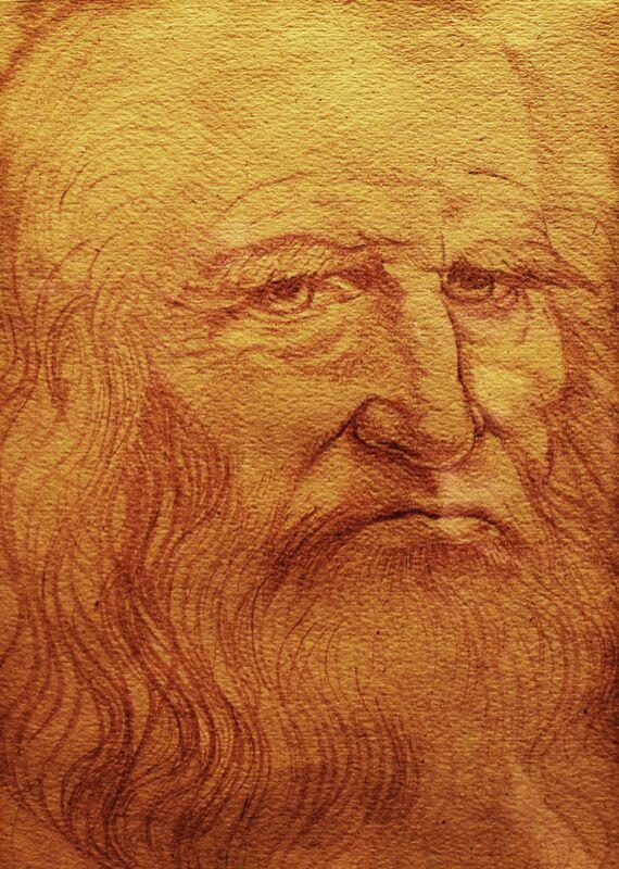 Self-portrait - Leonardo da Vinci desde AUX BEAUX-ARTS Decor Image