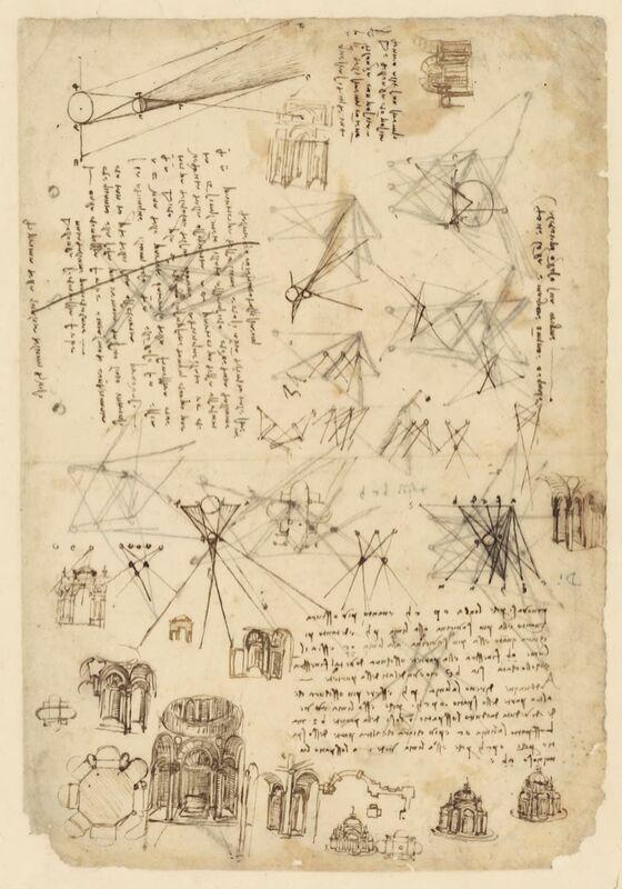 Codex de l'Atlantique - Léonard de Vinci de AUX BEAUX-ARTS Decor Image