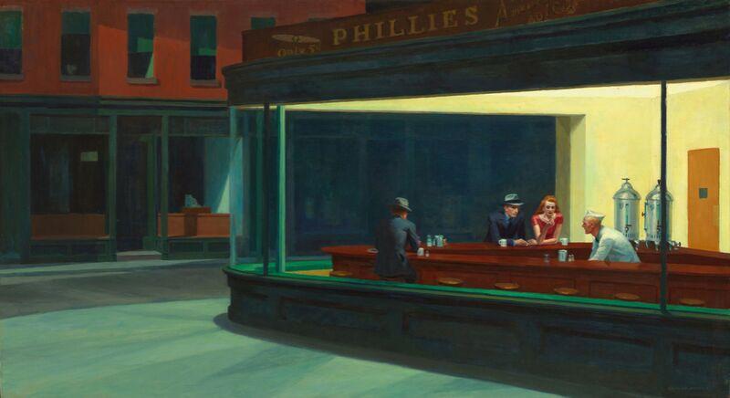 Nighthawks - Edward Hopper de AUX BEAUX-ARTS Decor Image