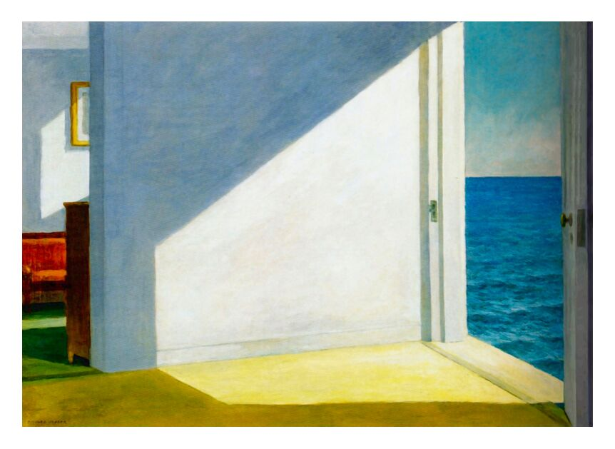 Rooms by the Sea - Edward Hopper from AUX BEAUX-ARTS, Prodi Art, sea, beach, Sun, summer, sky, vacation, Eward Hopper