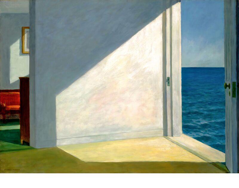 Habitaciones Junto al Mar - Edward Hopper desde AUX BEAUX-ARTS, Prodi Art, Eward Hopper, fiesta, cielo, verano, sol, playa, mar