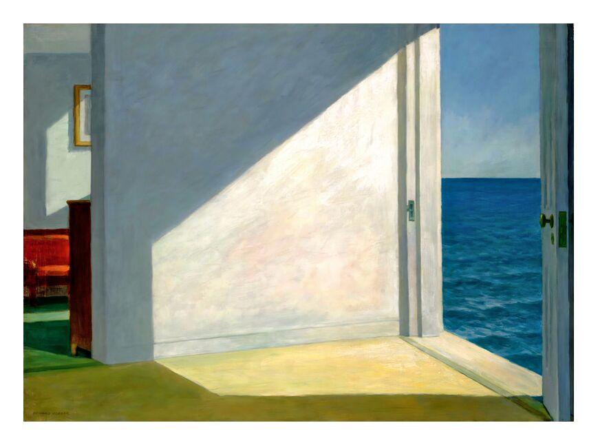 Chambres au Bord de la Mer - Edward Hopper de AUX BEAUX-ARTS, Prodi Art, Eward Hopper, vacances, ciel, été, soleil, plage, mer