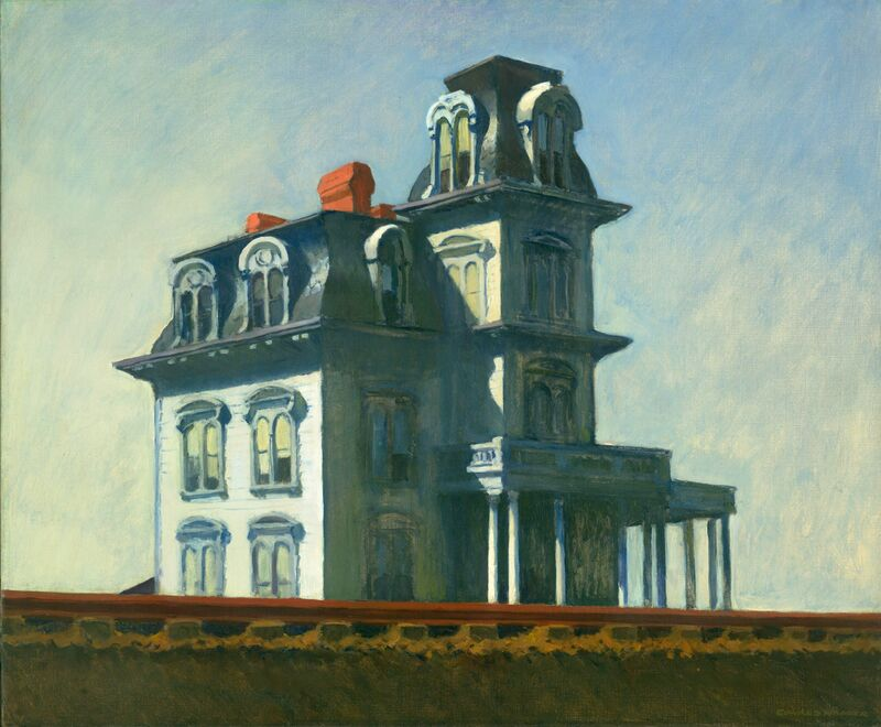 Casa Junto al Ferrocarril - Edward Hopper desde AUX BEAUX-ARTS Decor Image