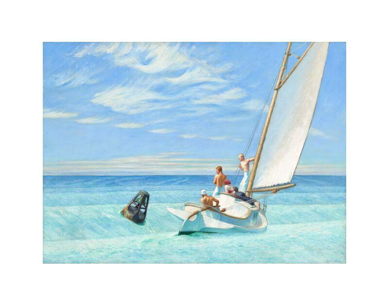 Ground Swell - Edward Hopper desde AUX BEAUX-ARTS, Prodi Art, velo, Edward Hopper, sol, verano, playa, mar, barco, marineros