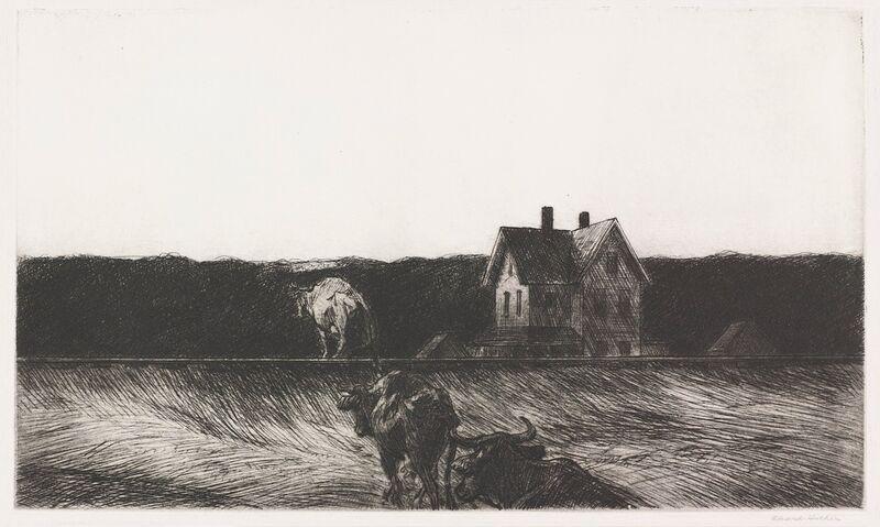 Paysage Américain - Edward Hopper de AUX BEAUX-ARTS Decor Image