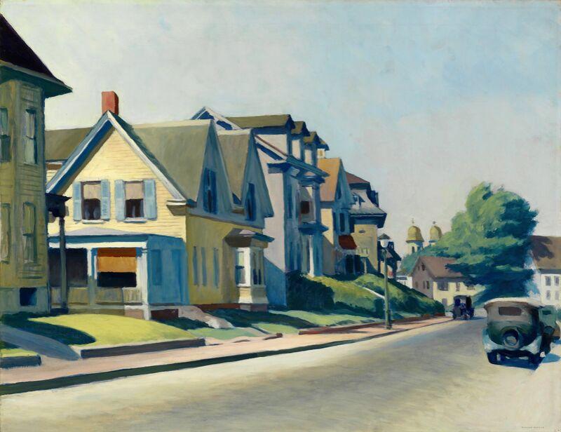 Soleil sur la Rue Prospect (Gloucester, Massachusetts) - Edward Hopper de AUX BEAUX-ARTS Decor Image