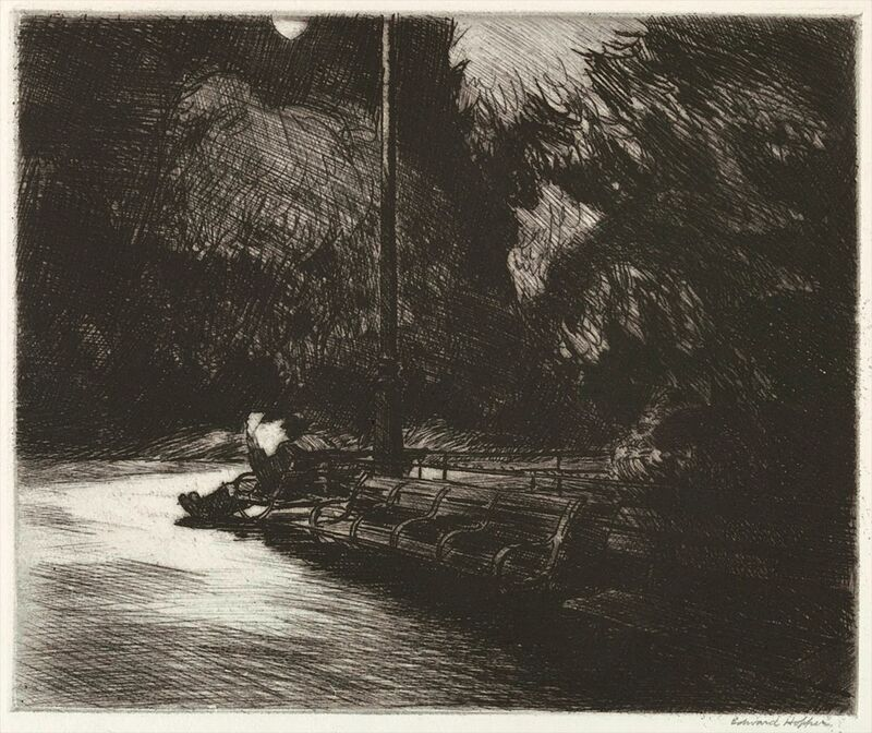 Night in the Park - Edward Hopper from AUX BEAUX-ARTS Decor Image