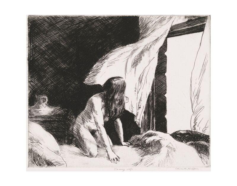 Vent du Soir - Edward Hopper de AUX BEAUX-ARTS, Prodi Art, nue, femme, noir et blanc, crayon, dessin, Edward Hopper, nu