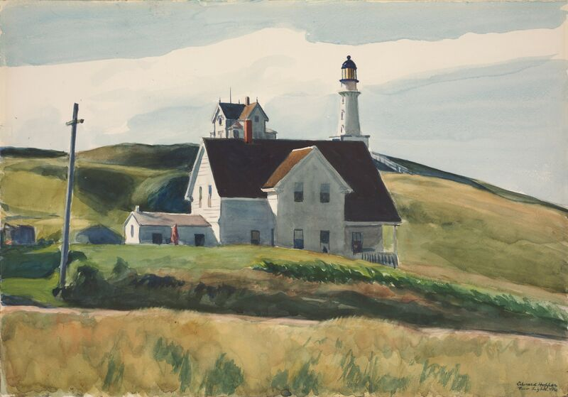Colline et Maisons, Cape Elizabeth, Maine - Edward Hopper de AUX BEAUX-ARTS Decor Image